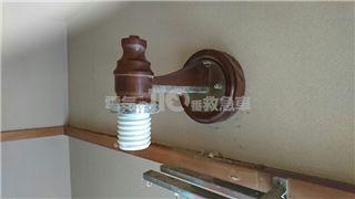 交換作業中の照明器具の状態