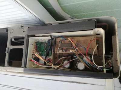 エアコン室外機の内部