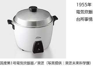 国産第一号機となる東芝の電気炊飯器