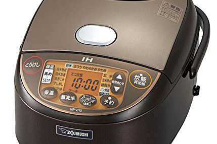 Amazonの炊飯器部門における掲載時の人気トップは象印 IH炊飯器 極め炊き 黒まる厚釜 ブラウン 5.5合 NP-VJ10-TA