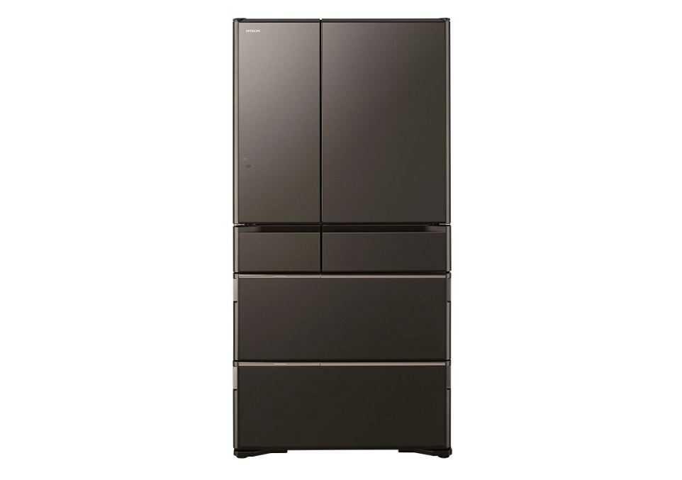 日立の最新型冷蔵庫35L 6ドア フレンチドア 真空チルド 新鮮スリープ野菜室 R-WX74J XH