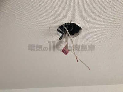 ダウンライトを設置するには拡張が必要な天井