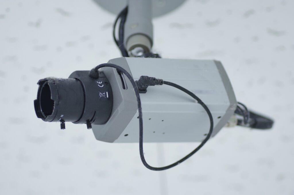ボックス型の防犯カメラ